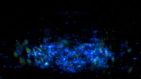Абстрактный отснятый видеоматериал космоса молнии на черной предпосылке Разметьте влияние яркого блеска галактики с sparkles на э Стоковое фото RF