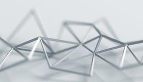 Абстрактный перевод 3D полигональной предпосылки Стоковое фото RF