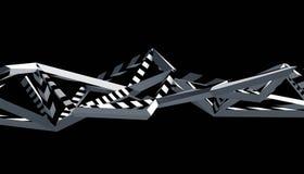Абстрактный перевод 3D полигональной предпосылки Стоковая Фотография RF