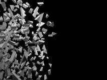 Абстрактный перевод 3d хаотических геометрических диаграмм иллюстрация вектора