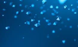 Абстрактный перевод 3D летать полигональные сферы Стоковая Фотография
