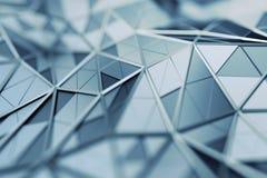 Абстрактный перевод 3D полигональной предпосылки иллюстрация штока