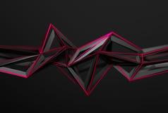 Абстрактный перевод 3D полигональной формы Стоковое Изображение RF