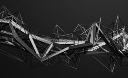 Абстрактный перевод 3D полигональной формы Стоковые Изображения