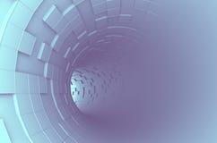 Абстрактный перевод 3d футуристического тоннеля Стоковые Изображения RF