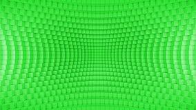 Абстрактный передернутый зеленый цвет предпосылки коробки иллюстрация штока