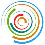 Абстрактный пестротканый круговой элемент Концентрические круги, кольцо Стоковая Фотография