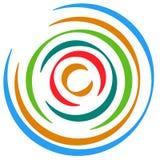 Абстрактный пестротканый круговой элемент Концентрические круги, кольцо Стоковые Фотографии RF