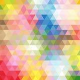 Абстрактный пестротканый полигон, низкая предпосылка полигона Трансфузия цвета вся радуга цветов геометрическо иллюстрация штока