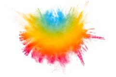 Абстрактный пестротканый порошок splatted на белой предпосылке Стоковое Изображение RF