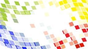 абстрактный пиксел мозаики предпосылки указывает кругом Иллюстрация вектора