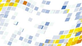 абстрактный пиксел мозаики предпосылки указывает кругом Иллюстрация штока