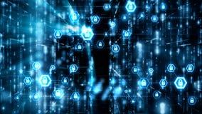 Абстрактный плавать частицы предпосылки и светового эффекта и подача с темнотой и пользовательский интерфейс зерна processed4K UI бесплатная иллюстрация