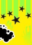 абстрактный плакат диско Стоковое Изображение