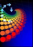 абстрактный плакат Стоковое Изображение RF