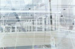 абстрактный поезд станции Стоковые Изображения RF