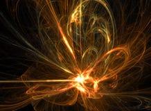 абстрактный пожар энергии иллюстрация штока
