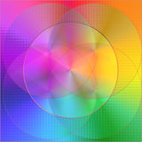 абстрактный покрашенный круг Стоковая Фотография