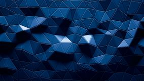 Абстрактный полигональный геометрический цвет сини предпосылки Стоковые Изображения RF