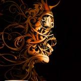 абстрактный портрет flourish бесплатная иллюстрация