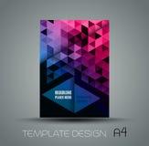 Абстрактный полигональный плакат треугольников Стоковые Изображения RF