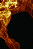 Абстрактный поднимать огня и дыма Стоковое Изображение