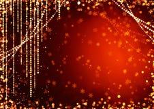 абстрактный праздник гирлянды занавесов Стоковое Изображение RF