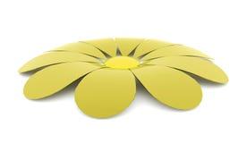 Абстрактный представленный цветок изолированным на белизне иллюстрация штока