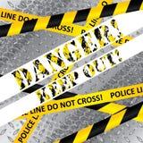 Абстрактный предупредительный знак с промышленными элементами иллюстрация штока