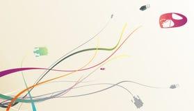 абстрактный прибор s предпосылки иллюстрация штока