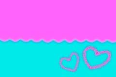 Абстрактный приглаживайте предпосылку нерезкости голубую и розовую с сердцем Стоковые Изображения RF