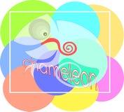 Абстрактный прозрачный хамелеон с логотипом дела ящерицы надписи Стоковое фото RF