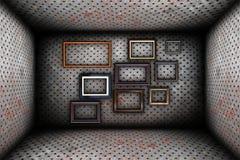 Абстрактный промышленный фон с рамками Стоковое Изображение RF