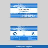 Абстрактный профессиональный шаблон визитной карточки Стоковые Изображения