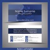 Абстрактный профессиональный шаблон визитной карточки Стоковые Фотографии RF