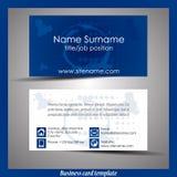 Абстрактный профессиональный шаблон визитной карточки Стоковые Фото