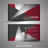 Абстрактный профессиональный шаблон визитной карточки Стоковая Фотография RF