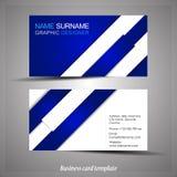 Абстрактный профессиональный шаблон визитной карточки Стоковое Изображение