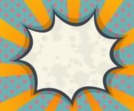 Абстрактный пустой комик пузыря речи, искусство шипучки для предпосылки бесплатная иллюстрация