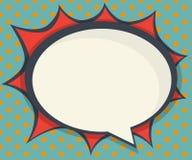 Абстрактный пустой комик пузыря речи, искусство шипучки иллюстрация штока