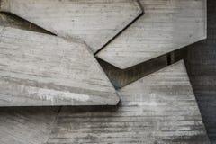 Абстрактный пустой конкретный интерьер с геометрическими формами Стоковые Изображения RF