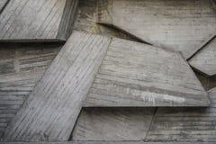 Абстрактный пустой конкретный интерьер с геометрическими формами Стоковое фото RF