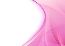 Абстрактный плакат - прозрачные swooshes Стоковое Изображение RF