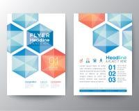 Абстрактный план шаблона дизайна рогульки брошюры плаката шестиугольника Стоковое Изображение
