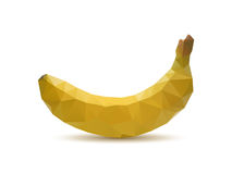 Абстрактный плодоовощ банана с стилем треугольника и белой предпосылкой Стоковые Фото