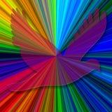 абстрактный радиант dove предпосылки Стоковая Фотография RF