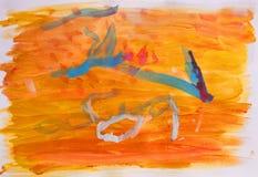 абстрактный ребенок 2 рисуя старый год Стоковые Фото