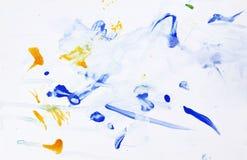 абстрактный ребенок 2 рисуя старый год Стоковые Изображения