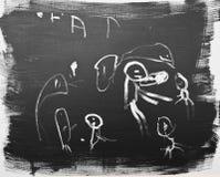 абстрактный ребенок 2 рисуя старый год Стоковое фото RF