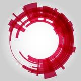 Абстрактный ретро круг технологии вектор Стоковые Фотографии RF